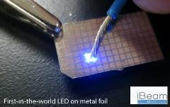 First in the world LED on metal foil