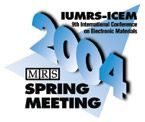 2004 MRS Spring Meeting Logo