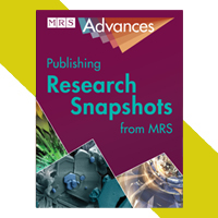 Cover image of the MRS Advances journal