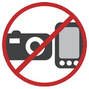 No recording via camera or cell phone