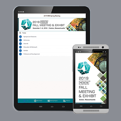 The meeting app, as shown on a tablet and phone