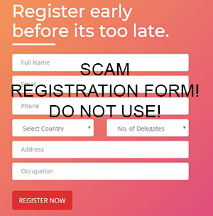 An example of a fake registration form.
