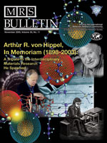 Cover of the November 2005 MRS Bulletin
